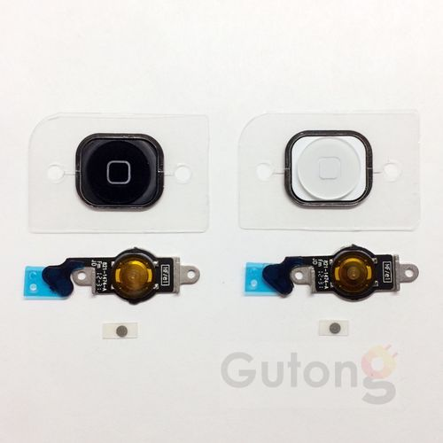 iPhone 5 Homebutton Flex Kabel schwarz / weiss